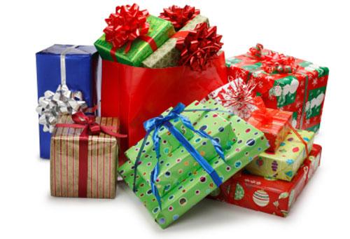 Carta dei pacchetti natalizi fiori e foglie for Immagini di pacchetti regalo