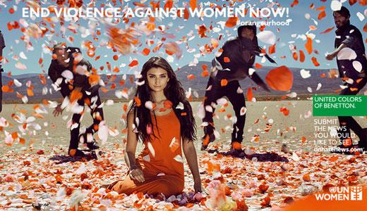 benetton violenza1 Nemmeno con un fiore: la campagna anti violenza di Benetton in difesa delle donne