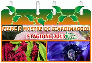 Calendario Mostre e Manifestazioni di Giardinaggio 2015