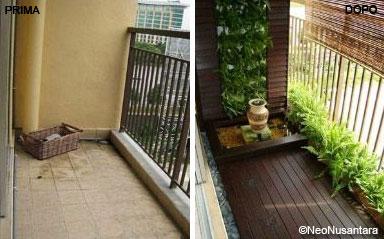 E il balcone si trasforma in un angolo zen  Fiori e Foglie