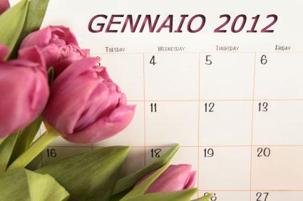 Anno Nuovo  Urge Calendario 2012 Di Fiori  Piante  Ortaggi     Il 2012